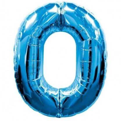 Синяя цифра фольгированная