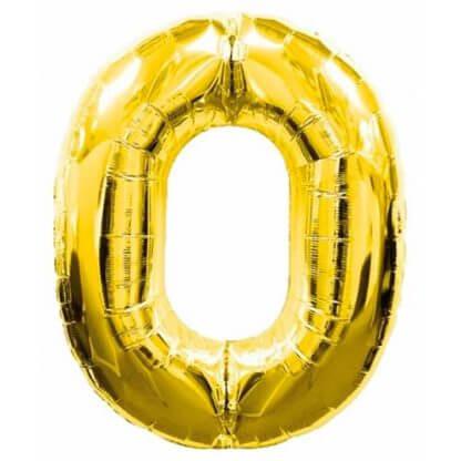 Цифра 0 золото фольгированная