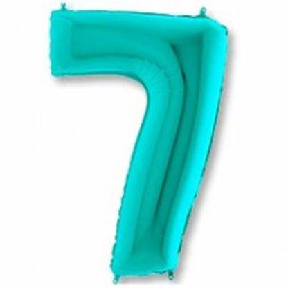 шары цифры на день рождения 7 тиффани