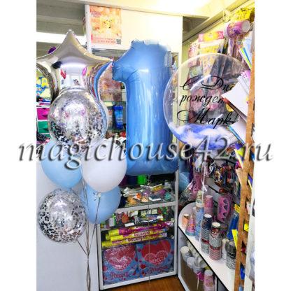 Воздушные шары 1 год мальчику