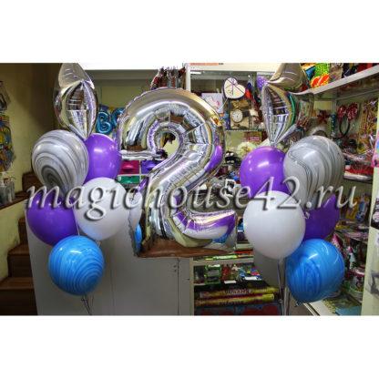 шары на день рождения 2 года девочке