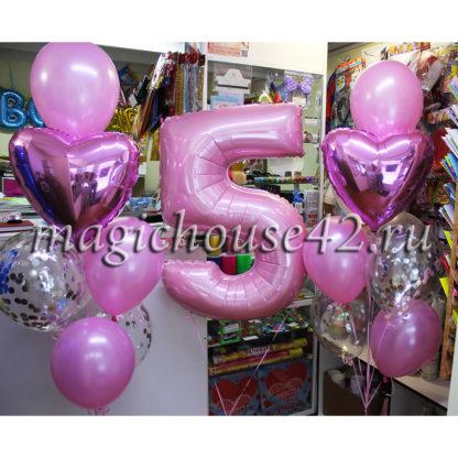 шары на 5 лет девочке